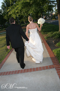 The new couple leaving the church