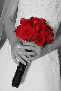 The brides bouquet, flowers in color