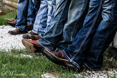 The groomsmen and their boots