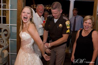 A funny moment at a reception