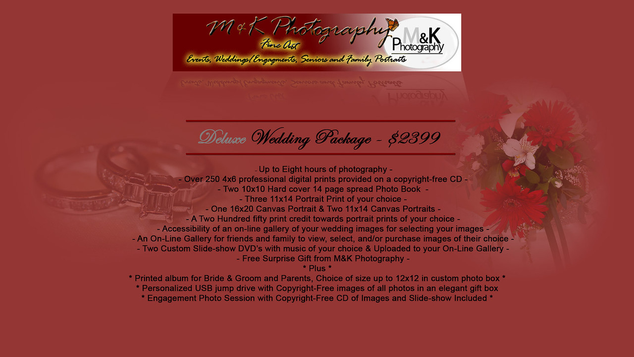 <b> <h2>The Deluxe Package</h2></b> Click image for details!  All <b>active duty full-time Military Personnel will be upgraded to the Deluxe Package for the price of Package Two. <h2>Thank you for your service!</h2>