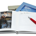 Guest books with your engagement photos inside