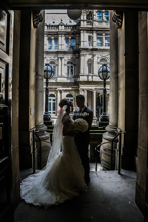 Maryellen and Daniel's wedding photography Leeds Town Hall