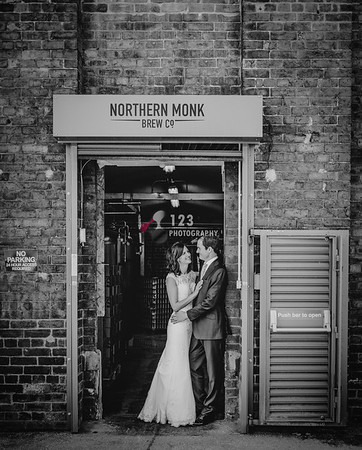 Chris and Vicky's wedding photography Northern Monk Brewery