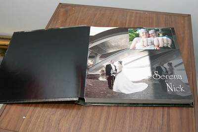 MB - Flush Mount, square corners, thick pages, but not as thick as our album, no cut line, front cover may contain a picture.  Layouts and designs seen will vary for each client created uniquely by our book designer.
