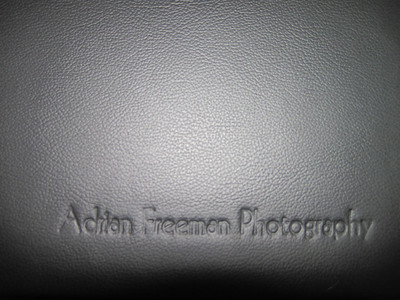 Embossing with your book will have YOUR INFORMATION on the front.