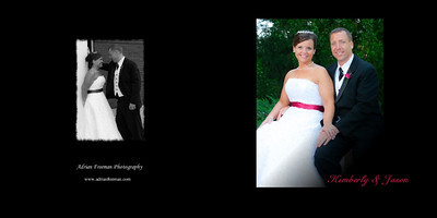 Album Cover - Sample design work - Design work may vary. (Left is back cover, right is front cover)