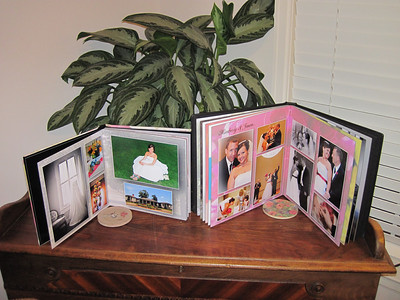 This shows a sampling of what might be inside. Each book is custom designed for our bride to make them unique and extraordinary.  These books are heirloom and archival quality so friend girlfriends, grandmothers, future children and even future grandchild can share in the wonderful beginnings of your marriage. We have never had anyone regret getting this book, only those who regret they didn't.