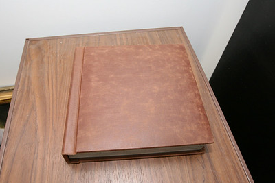 Leather Flush Mount Lay Flat Albums (LFM) - Available in several colors. (This sample is from our supplier)