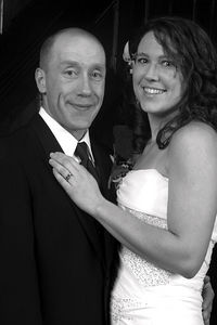 Dave & Meghan - Black and White Wedding Portait