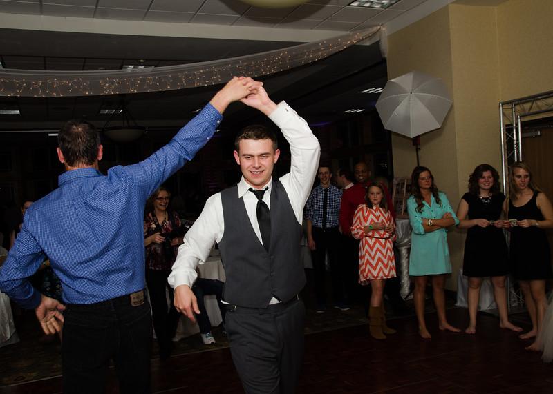 Peyton wedding groom dancing with uncle