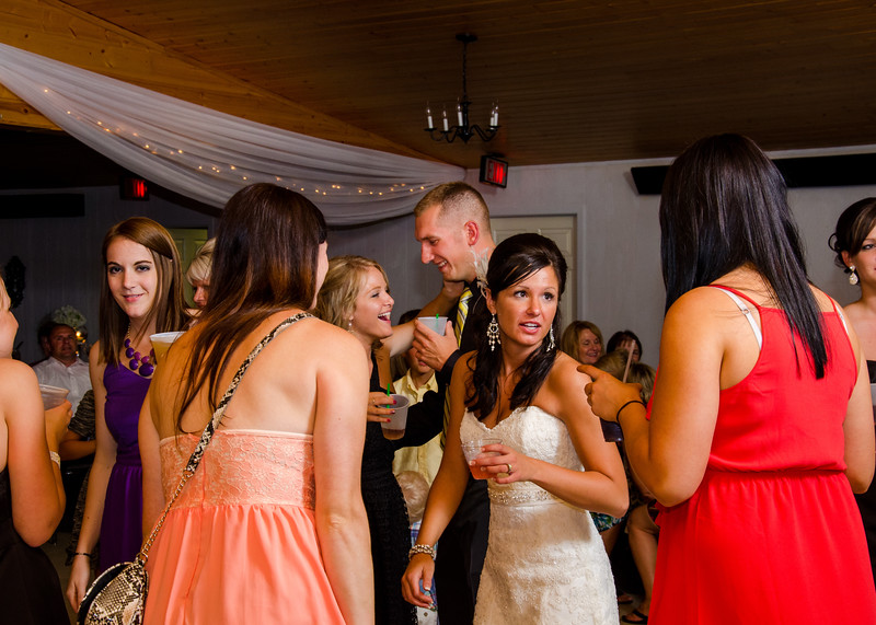 Risa Wedding bride dancing with friends