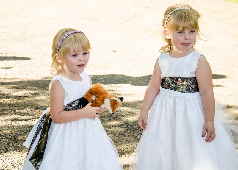 bourgeois Wedding flower girls