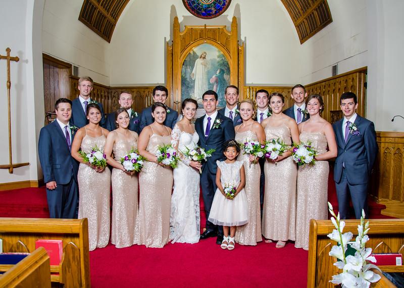 Zamora wedding party in church