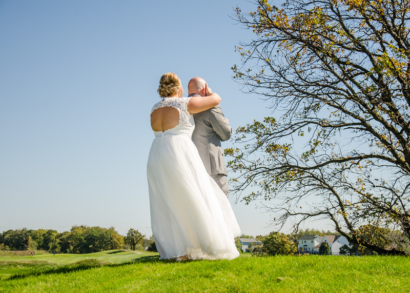 Riess wedding first look