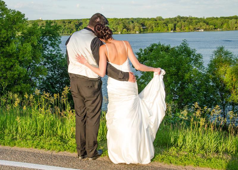 Wiskus wedding looking at the lake
