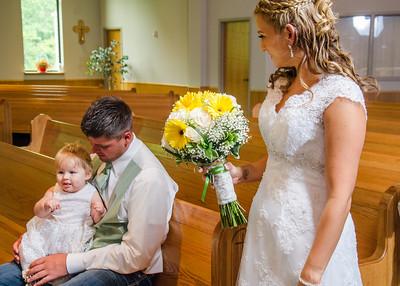 Loftus wedding before the ceremony