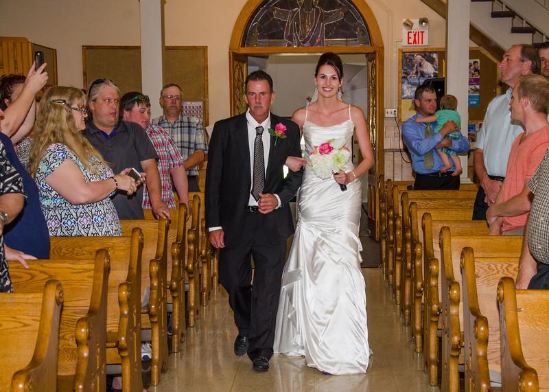 Wiskus wedding goind down the isle