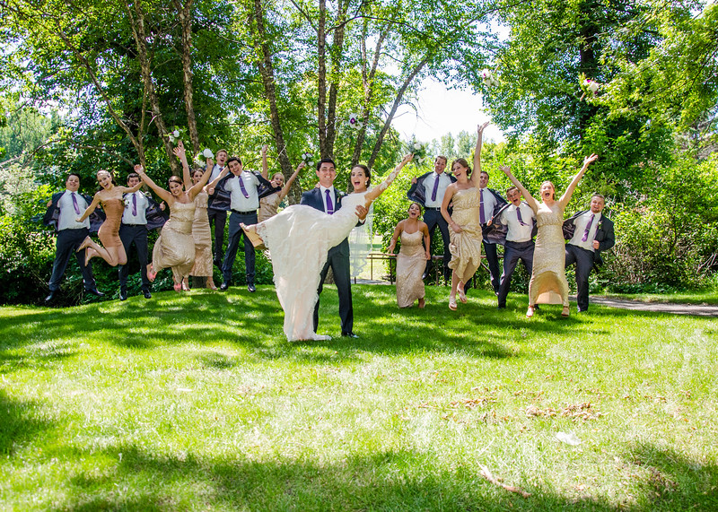 Zamora wedding jump photo