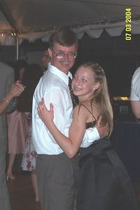 Dad and LB slow dance