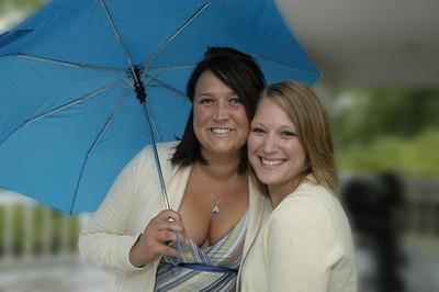 A beach wedding in the rain, what fun!!