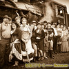 Old time train ride