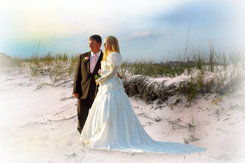 Actual photo was shot in northern Alabama; added the background from another shot I had taken in Florida.  The Bride is originally from Florida