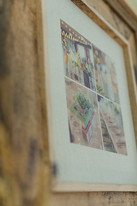 Burlap Print with Reclaimed Barnwood Frame