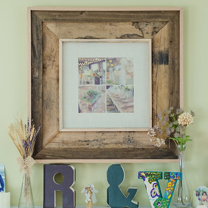 Burlap Print with Reclaimed Barnwood Frame