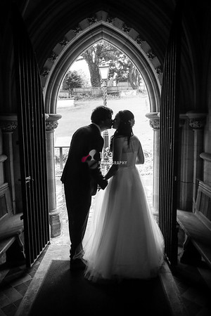 Helen and Ryan's wedding photography Thornhill Parish Church Dewsbury