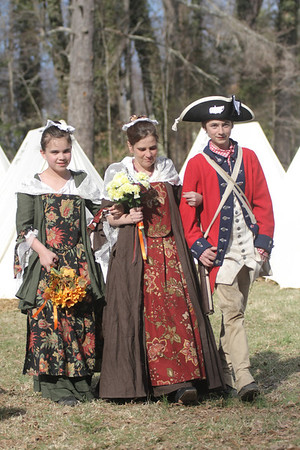 Bobbie Walker and Stuart Steele's Wedding at the 233rd Anniversary of the Battle of Guilford Courthouse, March 15, 2014, Greensboro, NC