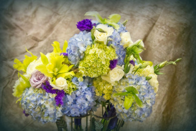 Romantic bridal party bouquets