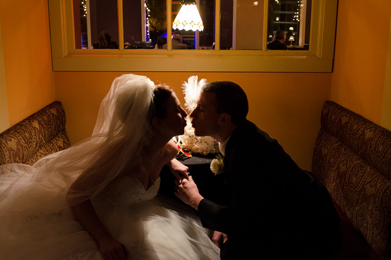 Romantic wedding photo at the Astor Hotel Milwaukee.