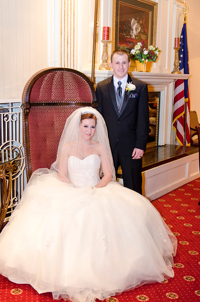 Photo looking much like a presidential wedding at the Astor Hotel Milwaukee.