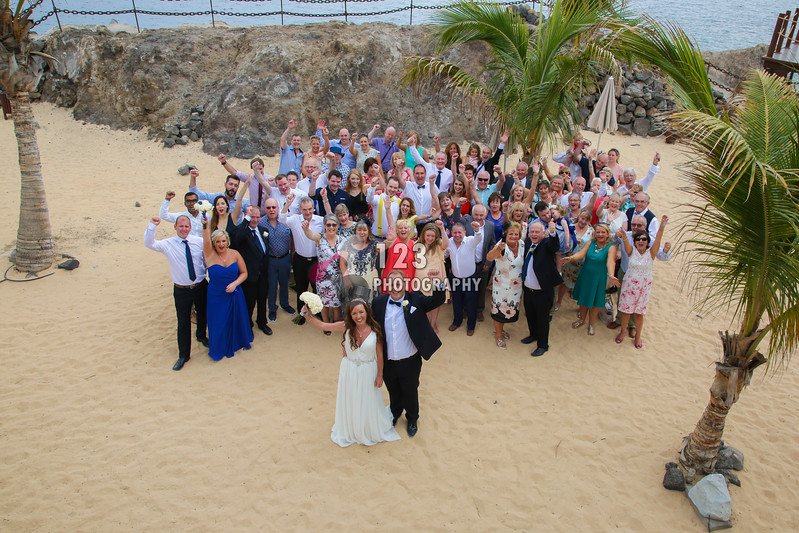Denise and James's wedding photography Hesperia Lanzarote