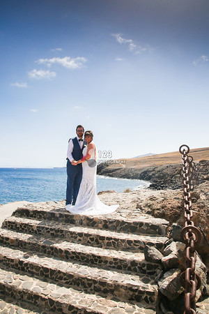 Natalie and Max's wedding photography Lanzarote