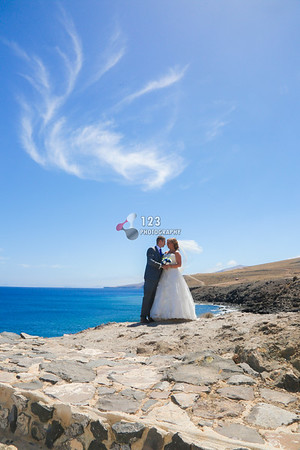 Niamh and Ingmar's wedding photography Lanzarote, Amura, Puerto Calero