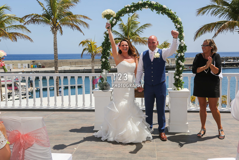 Sharon and Eddie's wedding photography Lanzarote
