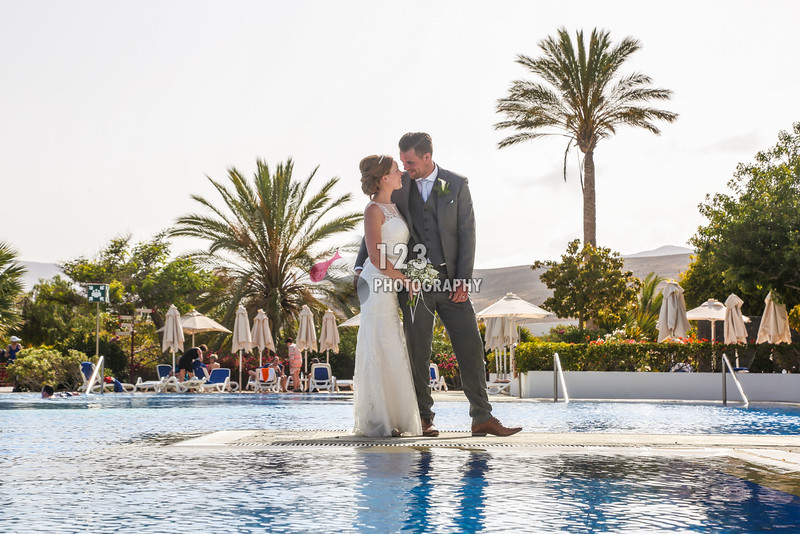 Lucy and Brad's wedding photography Lanzarote