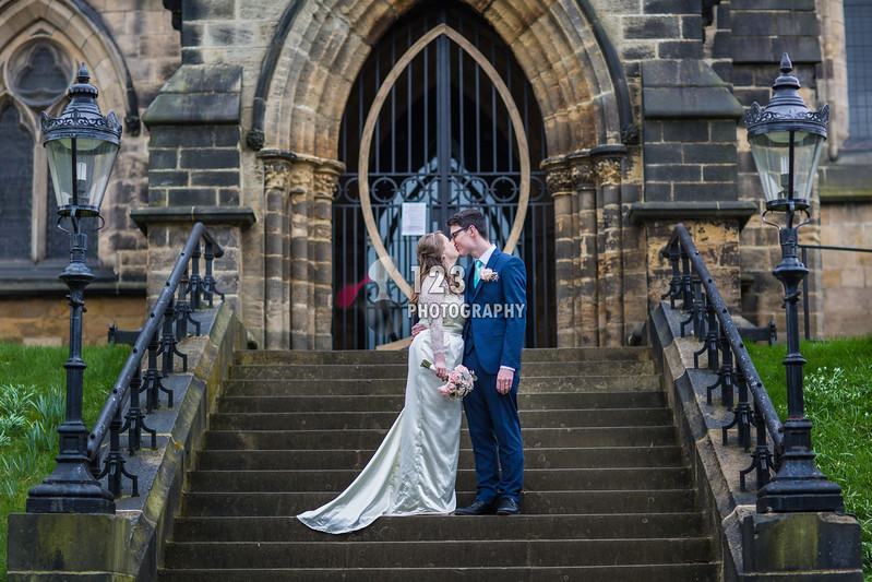Isabel and Matthew's wedding photography St. Chad's Church Headingley and Otley Chevin Lodge