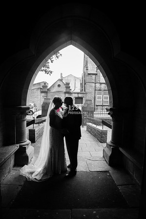 Margaret and Peter's wedding photography St. John's Church Great Horton Bradford