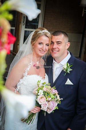 Claire and Stephen's wedding photography Thorpe Park Hotel and Spa Leeds