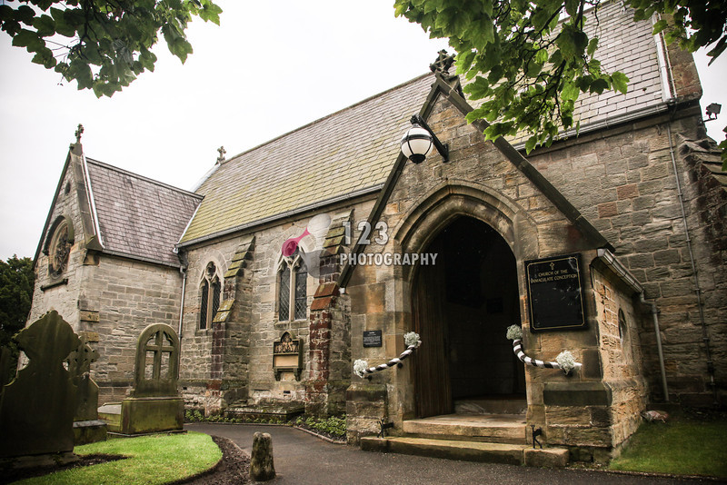wedding photography at The Church of the Immaculate Conception, Sicklinghall, Yorkshire