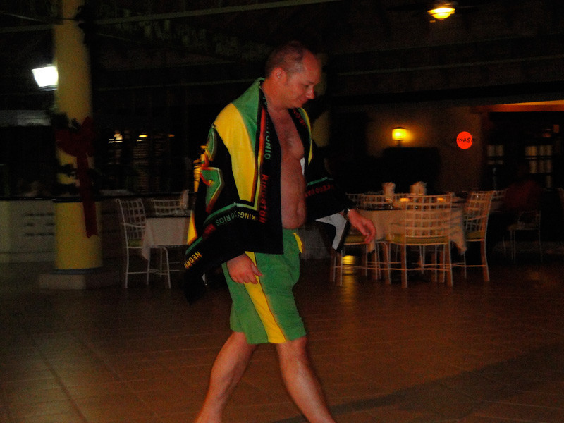 Fashion Show: me in beach gear.