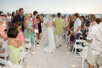 Erin & Steve's ceremony at the Beachhouse on Anna Maria Island.