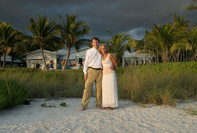 Maura & Jim renew their vows on the beach on Anna Maria Island.  Photos by Dara Caudill www.IslandPhotography.org