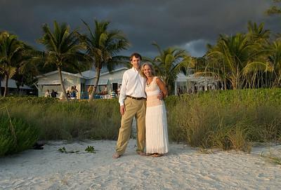 Maura & Jim renew their vows on the beach on Anna Maria Island.  Photos by Dara Caudill www.IslandPhotography.org