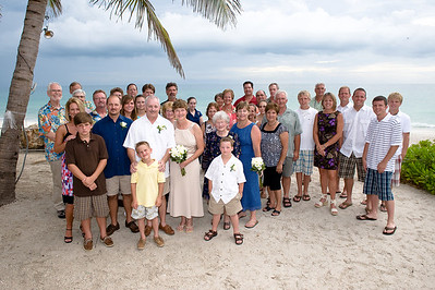 Julie & Steve's wedding with family & friends at the Beachhouse Restaurant on Anna Maria Island.  www.GrouperSandwich.com  Photography by Dara Caudill www.IslandPhotography.org  Flowers by The Island Florist www.Island-Florist.com
