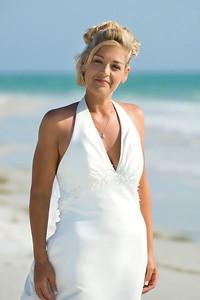 Erin on the beach of Anna Maria Island.