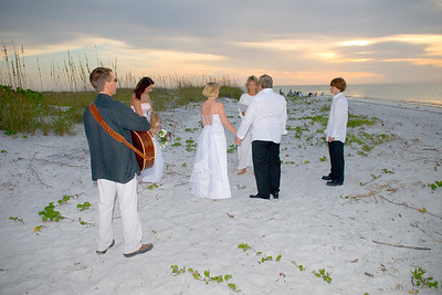 North Point (Bean Point) of Anna Maria Island.  My husband Chuck played acoustic guitar for their ceremony & photo session.